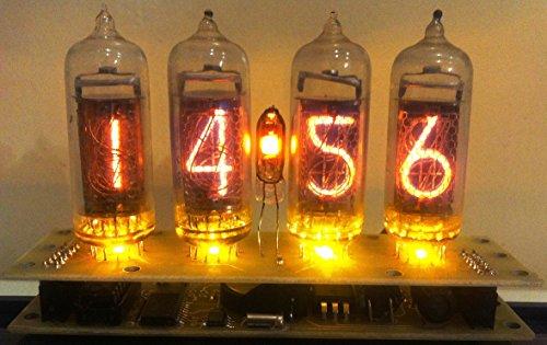 Nixie Vacuum Tube Clock Calendar IN-14 - Vintage - Steampunk - Dieselpunk - Soviet Made During the Cold War Era - Handmade