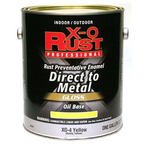 True Value Mfg Company XO-4, Premium X-O Rust, Gallon, Safety Yellow, Oil Base Interior/Exterior Anti Rust Enamel