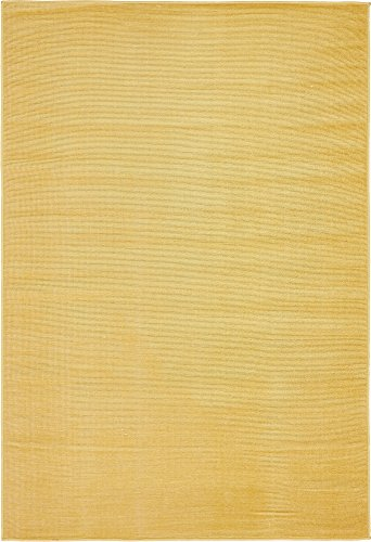 Gold Rug - Unique Loom Williamsburg Collection Casual Solid Gold Area Rug (4' 0 x 6' 0)