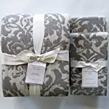 Pottery Barn Duvet Covers Pottery Barn Jacquard Medallion Duvet Cover King/California King & Two Euro Shams ~Gray~