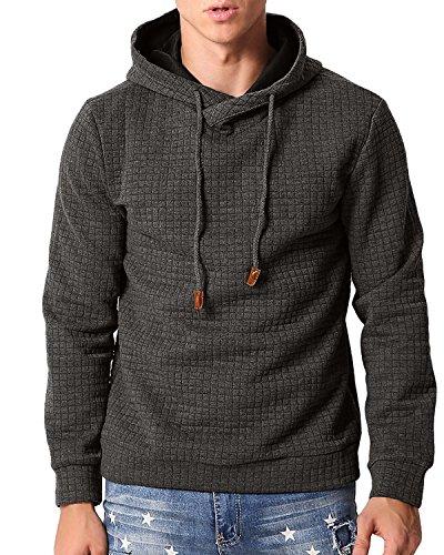 Mens Hooded Fleece Sweatshirt - 5