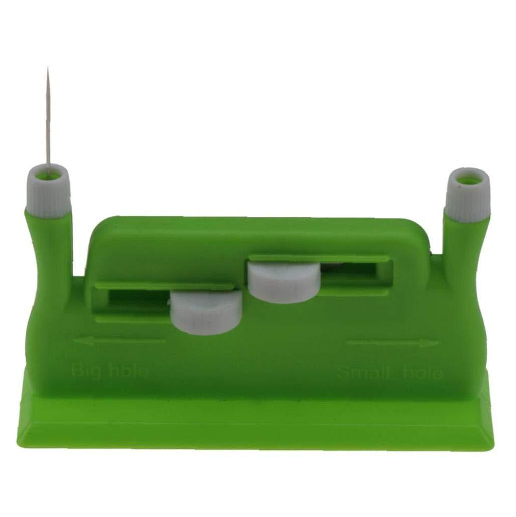 Bongles 1 Set Scrivania Ago Threadere Portatili Fori di Plastica Doppia Mano Infila Ago Strumento di Inserimento per Accessori Cucito