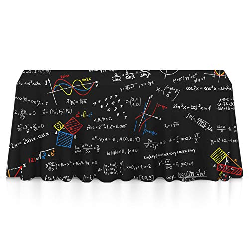 GOAEACH Table Cloth, Spillproof Stain Resistant Table Covers, Square/Rectangular Math Lesson Table Toppers Picnic, Catering Events, Celebrations - Table -
