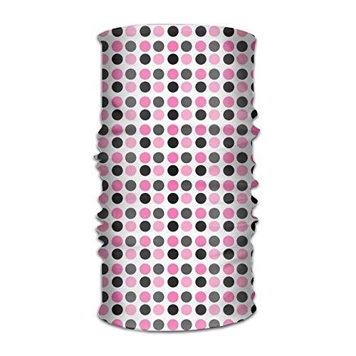 (Magic Headwear Cute Black Pink Dots Outdoor Scarf Headbands Bandana Mask Neck Gaiter Head Wrap Mask)