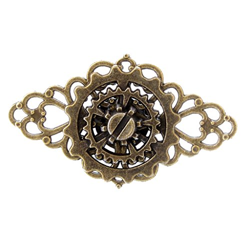 MonkeyJack Classic Steampunk Gear Ring Gothic Jewelry Mens Costume Accessories Vintage