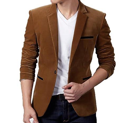 Mantel Herren Sonnena Herren Slim Fit Corduroy Blazer Suit