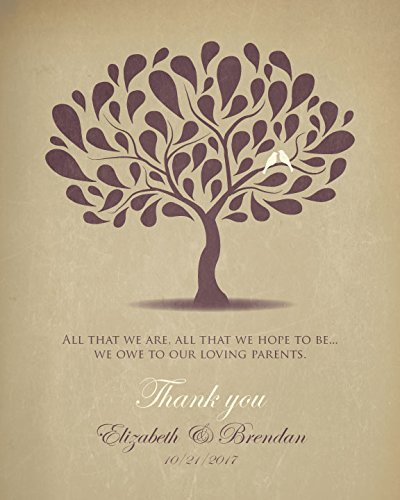 Wedding Gift For Parents From Bride And Groom Personalized Thank You In Laws