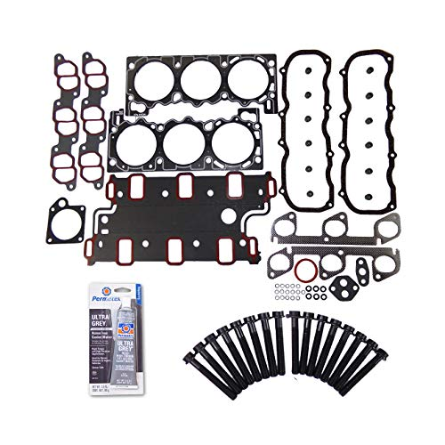 Head Gasket Set Bolt Kit Fits: 90-94 Ford Explorer Ranger Mazda B4000 4.0L OHV 12v (91 92 93 94 Car)