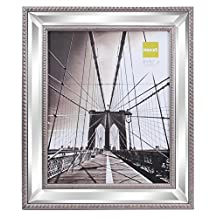 nexxt Sutton Mirrored Picture Frame, 8 by 10 Inch, Brushed Champagne with Double Beading