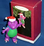 QX5966 Barney Ice Skaing 1994 Hallmark Keepsake Ornament