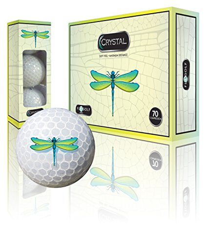 - Crystal Golf Brand Golf Balls (Dragonfly Logo)