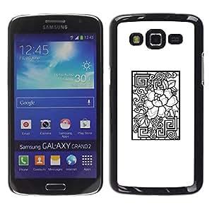 Paccase / SLIM PC / Aliminium Casa Carcasa Funda Case Cover para - Pattern White Black Abstract - Samsung Galaxy Grand 2 SM-G7102 SM-G7105