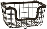 Gourmet Basics by Mikasa General Store Stacking/Nesting Metal Basket, Antique Black - 5162861
