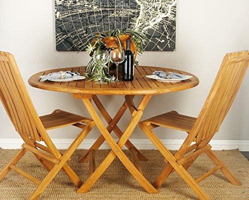 Deco 79 92452 Wood Teak Table, 47'' x 30'' by Deco 79 (Image #3)