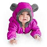Funzies Baby Bunting Fleece Hooded Romper Bodysuit