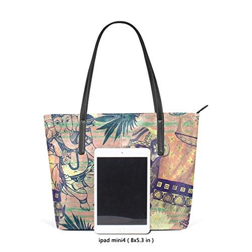 4665b3f372df6 Coosun indische Elefanten Blumen Ananas PU Leder Schultertasche Handtasche  und Handtaschen Tasche für Frauen