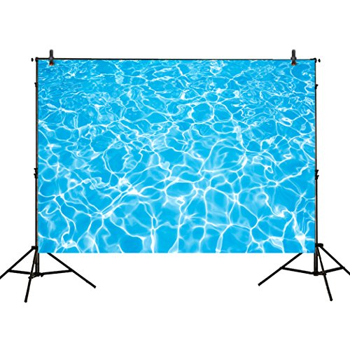 Funnytree 7x5ft photography backdrops party summer swimming pool water ripple Birthday banner photo studio booth background newborn baby shower photocall