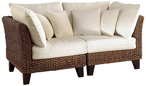 Panama Jack Sunrooms 2 PCPJS-1001-LS Sanibel Loveseat with Cushions, Sunbrella Canvas Capri