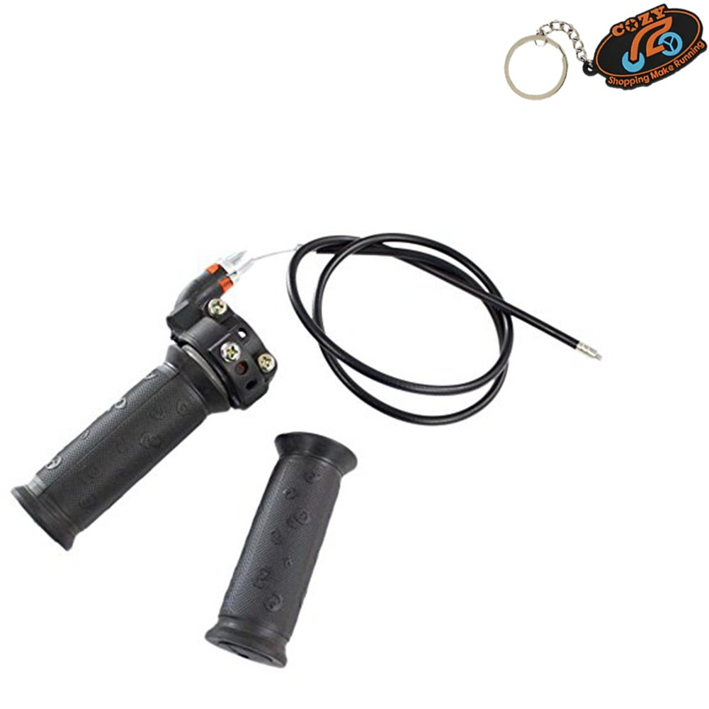 Cozy Pack of Twist Throttle Accelerator Grip + cable for 47cc 49cc Mini Dirt Bike Quad Pocket