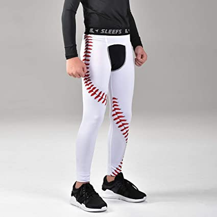 f1acc3ce74323 Amazon.com : SLEEFS Baseball Lace Tights for Kids : Sports & Outdoors