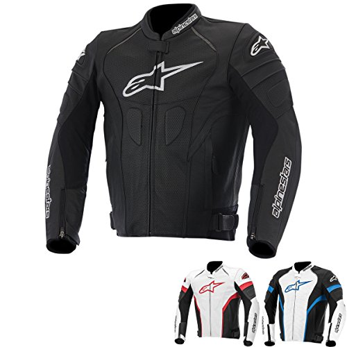 Alpinestars GP Plus R Perforated Men's Street Motorcycle Jackets - Black/White / 54
