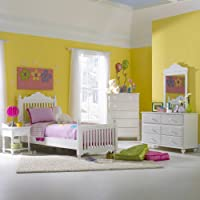 Hillsdale Lauren 4 Piece Youth Poster Bedroom Set In White