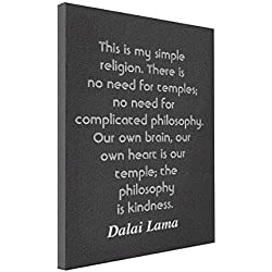 Wall Art Dalai Lama Quote - 8x10 Canvas