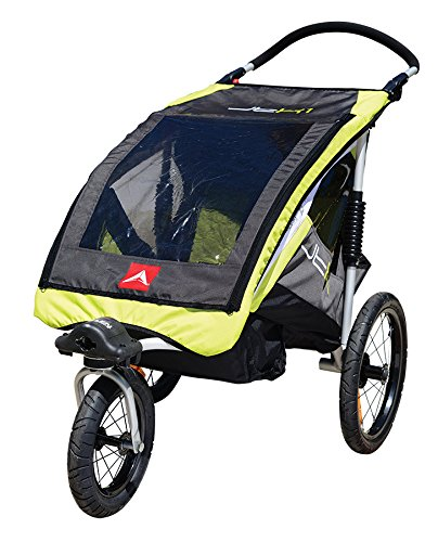 (Allen Sports JTX-1 Trailer/Swivel Wheel Jogger, Green)