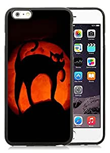 Customization iPhone 6 Plus Case,Halloween Pumpkin art Black iPhone 6 Plus 5.5 TPU Case 1