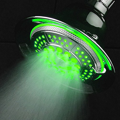 DreamSpa-All-Chrome-Water-Temperature-Controlled-Color-Changing-5-Setting-LED-Shower-Head-by-Top-Brand-Manufacturer-Color-of-LED-lights-changes-automatically-according-to-water-temperature