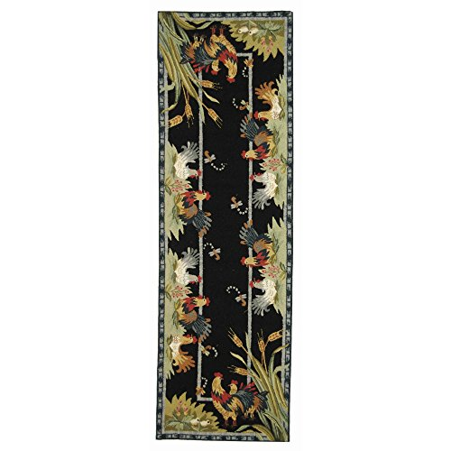 Rooster Black Area Rugs - 3
