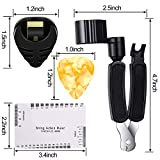 9 Pieces Guitar Accessories Kit Including 3 in 1