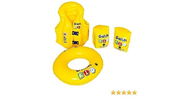 JILONG Swim Kid Set - Set de Aprendizaje Hinchable: Flotador, Chaleco y Manguitos: Amazon.es: Juguetes y juegos