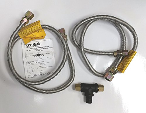 Natural Gas Grill And Side Burner Connector Package (Side Burner Connector Package)