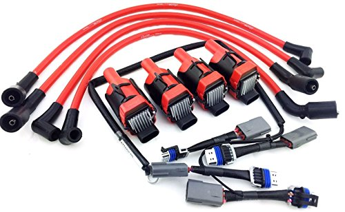 Aftermarket 2004-2011 10MM WIRES MAZDA RX-8 RX8 ADAPTER WIRING HARNESS CORVETTE COIL PACKS ()