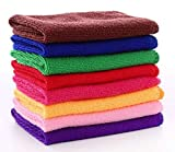 #5: AccMart Kitchen Towels, Cotton Dish Towels Microfiber Cleaning Cloth for Cars, Microfiber Bar Towels - Color Random - 12 x 12inch
