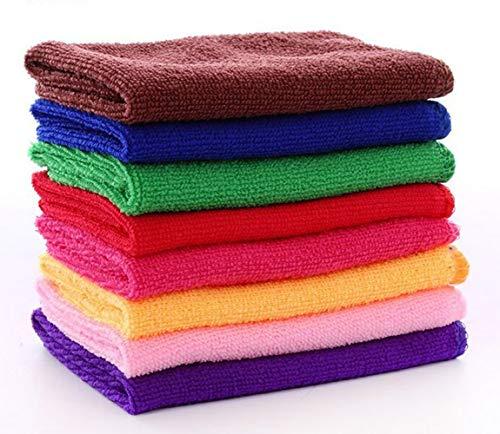 AccMart Kitchen Towels, Cotton Dish Towels Microfiber Cleaning Cloth for Cars, Microfiber Bar Towels - Color Random - 12 x 12inch (20PCS)