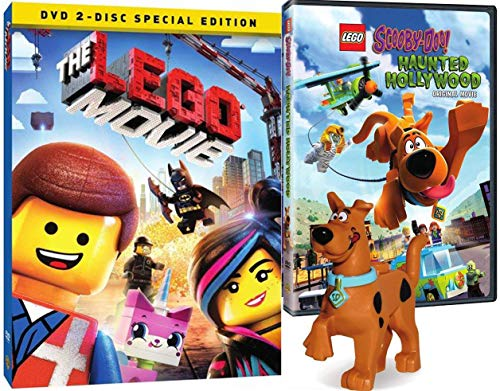 Bricks Lego Scooby-Doo Figure & Movie Pack Exclusive Haunted Hollywood DVD Animated + The Original Theatrical 2 Disc Special Edition Double Feature Bundle (Lego Wreck It Ralph)