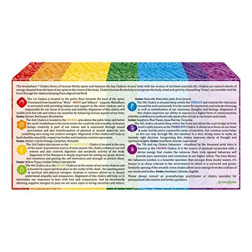 Aromafume 7 Chakra Incense Bricks Starter Kit containing Tree of Life Exotic Incense Diffuser (Gift Set). Ideal for Meditation, Purification, Yoga, Chakra Alignment, Relaxation, Healing & Rituals by Aromafume (Image #3)