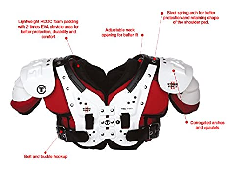 cfce07490 Amazon.com   TAG Strike Force II 780 Football Shoulder Pad. Ideal for  Quarterbacks