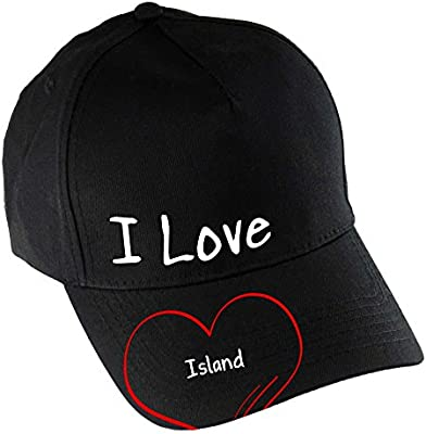 Baseball CAP Modern I Love Island Black: Amazon co uk: Sports & Outdoors