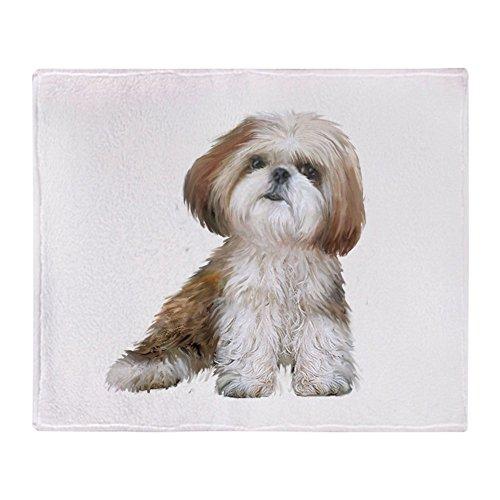 CafePress Shih Tzu (Red Wte) Soft Fleece Throw Blanket, 50