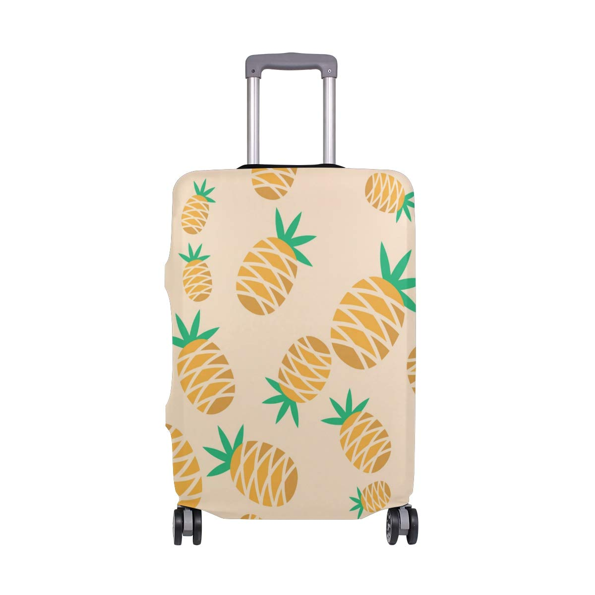 FOLPPLY Summer Pineapple Pattern Luggage Cover Baggage Suitcase Travel Protector Fit for 18-32 Inch