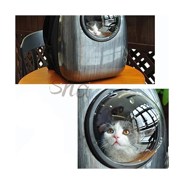 YD Pet Travel Carrier Cat Bag Pet Outing Package Cat Carrying Case Shoulder Dog Bag Dog Backpack Cat Backpack Space Pet… Click on image for further info. 4