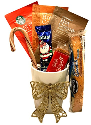 Christmas Gifts - Holiday Gifts - Starbucks Coffee Gift Sets - Twinings Hot Tea Gift Sets - Starbucks Cocoa Gift Sets (Hot Cocoa -Starbucks Varieties) (K Cup Coffee Gift Baskets Delivered)