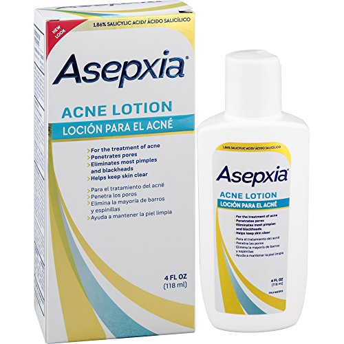 ASEPXIA Acne Astringent Lotion 1.86% Salicylic Acid for Pimples Blackheads Clogged Pores, 4 oz