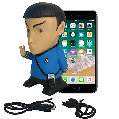 (Star Trek Vinyl Action Figure | Mr. Spock Bluetooth Speaker with Microphone - Plays Music & Speaks 9 TOS Phrases voiced by Leonard Nimoy - Unique Collectibles, Memorabilia for Star Trek Fans)