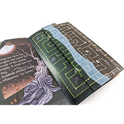 Adventure Maze: Witches Way, Witch & Spell Themed Paperback Folding Puzzle Book w/ 18 Stickers & Short Story: Toys & Games