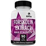 EBYSU Forskolin Extract - 500mg Max Strength - 90 Capsules Weight Loss & Appetite Suppressant Supplement