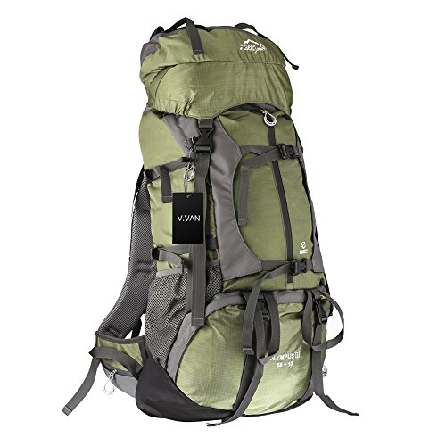 Outdoor Sport 65L V.VAN Internal Frame Backpack,Waterproof Travel Rucksack Hiking Camping Luggage Backpack Trekking Bag Mountaineering Daypack with Rain - Mens Dries Noten Van Bag